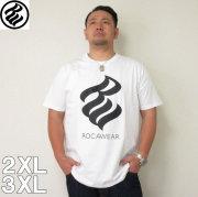 (5/31まで特別送料)ROCAWEAR(ロカウェア)FLAME半袖Tシャツ  ロカウェア 半袖 Tシャツ 2XL 3XL 黒 白