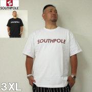 (7/31まで特別送料)SOUTHPOLE(サウスポール)ロゴプリント 半袖 Tシャツ 3XL サウスポール