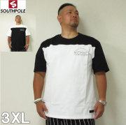 (7/31まで特別送料)SOUTHPOLE(サウスポール)切替プリント 半袖 Tシャツ 3XL サウスポール