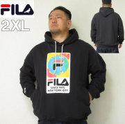 (本州送料無料)大きいサイズ メンズ STAPLE(ステイプル)FILA×STAPLE HOOD ERTH デカロゴ フィラ 2XL パーカー