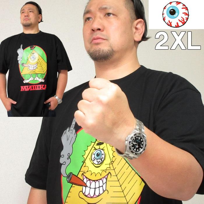 大きいサイズ メンズ MISHKA(ミシカ) HUZZAH! 半袖Tシャツ(当店在庫分)ミシカ 2XL