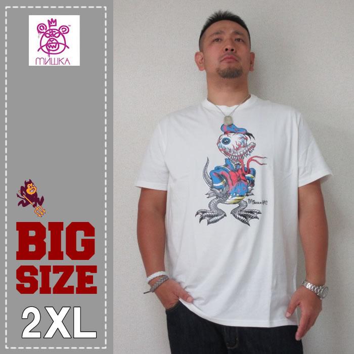 MISHKA(ミシカ)Tシャツ(ダック)WHITE-2XL