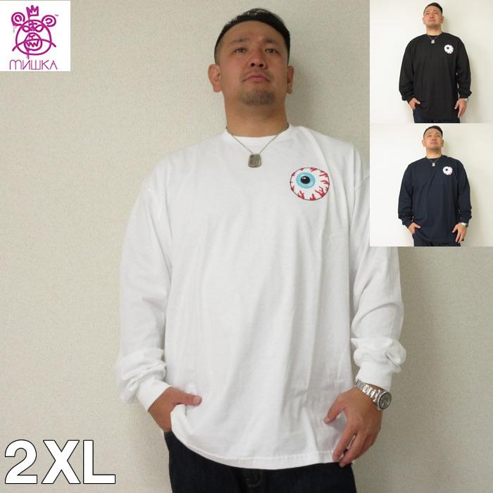 (4/6まで特別送料)大きいサイズ メンズ MISHKA(ミシカ)KEEP WATCH ロンTEE<2XL> ミシカ 目玉デザイン 長袖Tシャツ