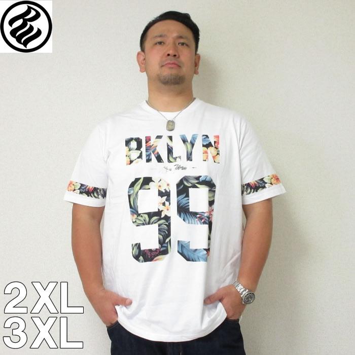 (7/31まで特別送料)ROCAWEAR(ロカウェア)TROPICAL 99-半袖Tシャツ  ロカウェア 半袖 Tシャツ 2XL 3XL 黒 白