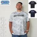 (11/30まで特別送料)OUTDOOR PRODUCTS-DRYメッシュ総柄半袖Tシャツ(メーカー取寄)ドライ 3L 4L 5L 6L 8L アウトドア Tシャツ