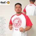 大きいサイズ メンズ SOUL SPORTS×新日本プロレス-ラグラン半袖Tシャツ(メーカー取寄)3L 4L 5L 6L 8L 新日本プロレス ストロングスタイル