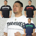 (本州四国九州送料無料)大きいサイズ メンズ 定番 THRASHER-半袖Tシャツ(メーカー取寄)3L 4L 5L 6L スラッシャー 流行り 流行 雑誌掲載
