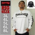 THRASHER-ポケット付長袖Tシャツ(メーカー取寄)