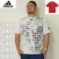 (4/30迄送料値下げ中)adidas-グラフィック半袖Tシャツ(メーカー取寄)3XO 4XO 5XO 6XO 7XO 8XO アディダス スポーツ ジョギング ドライ 半袖 Tシャツ