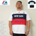 (9/30まで特別送料)Majestic-半袖Tシャツ(メーカー取寄)3L 4L 5L 6L マジェスティック 野球 スポーツ ヤンキース 半袖 Tシャツ
