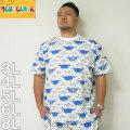 (7/31まで特別送料)クレヨンしんちゃん-総柄プリント半袖Tシャツ(メーカー取寄)3L 4L 5L 6L 8L しんちゃん くれしん Tシャツ