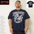 (4/30迄送料値下げ中)THRASHER-半袖Tシャツ(メーカー取寄)3L 4L 5L 6L 8L スラッシャー 流行り 流行 雑誌掲載