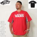 (10/31まで特別送料)VANS-チェッカースリーブ半袖Tシャツ(メーカー取寄)3L 4L 5L 6L バンズ Tシャツ