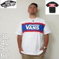 (10/31まで特別送料)VANS-カラーパネル半袖Tシャツ(メーカー取寄)3L 4L 5L 6L バンズ Tシャツ