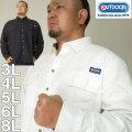 大きいサイズ メンズ OUTDOOR PRODUCTS-綿麻ロールアップ 長袖シャツ(メーカー取寄)アウトドア プロダクツ 3L 4L 5L 6L 8L