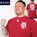 (本州四国九州送料無料)大きいサイズ メンズ 豊天-波豊天オマージュ 半袖 Tシャツ(メーカー取寄)ブーデンショウテン・ぶーでんしょうてん) 3L/4L/5L/6L