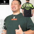 (本州四国九州送料無料)大きいサイズ メンズ b-one-soul-バックビッグロゴ半袖Tシャツ(メーカー取寄)(ビーワンソウル)/3L/4L/5L/6L
