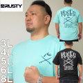 大きいサイズ メンズ RUSTY-プリント半袖Tシャツ(メーカー取寄)ラスティ/3L/4L/5L/6L/8L