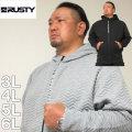 (本州四国九州送料無料)大きいサイズ メンズ RUSTY-フルジップ テック パーカー(メーカー取寄)ラスティ 3L 4L 5L 6L