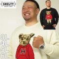 大きいサイズ メンズ SHELTY-7Gジャガードベア柄クルーネックセーター(メーカー取寄)シェルティ 3L 4L 5L 6L