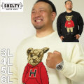 (本州四国九州送料無料)大きいサイズ メンズ SHELTY-7Gジャガードベア柄クルーネックセーター(メーカー取寄)シェルティ 3L 4L 5L 6L