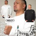 大きいサイズ メンズ SHELTY-天竺ベア刺繍ポケット付長袖Tシャツ(メーカー取寄)シェルティ 3L 4L 5L 6L