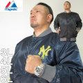 大きいサイズ メンズ Majestic-NYミリタリープリントサテンジャケット(メーカー取寄)マジェスティック 3L 4L 5L 6L