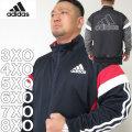 (本州四国九州送料無料)大きいサイズ メンズ adidas-ウォームアップジャケット(メーカー取寄)3XO/4XO/5XO/6XO/7XO/8XO/アディダス