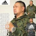 大きいサイズ メンズ adidas-カモフラ柄スウェットプルパーカー(メーカー取寄)アディダス 2L 3L 4L 5L 6L 7L