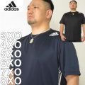 大きいサイズ メンズ adidas-メッシュ プリント 半袖 ドライ Tシャツ(メーカー取寄)3XO/4XO/5XO/6XO/7XO/8XO/アディダス
