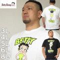 大きいサイズ メンズ BETTY BOOP-ネオンカラープリント半袖Tシャツ(メーカー取寄)ベティブープ 3L 4L 5L 6L 8L