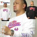 大きいサイズ メンズ Fanatics-NYスクリプトロゴ長袖Tシャツ(メーカー取寄)ファナティクス 3L 4L 5L 6L