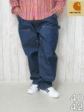 (大きいサイズ メンズ 通販 デビルーズ)Carhartt(カーハート)「DUNGAREE DOUBLE FRONT」ワークパンツ
