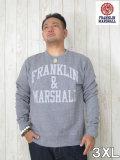(大きいサイズ メンズ 通販 デビルーズ)FRANKLIN&MARSHALL(フランクリン&マーシャル)「F‐M」スウェットシャツ