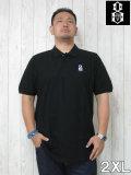 (大きいサイズ メンズ 通販 デビルーズ)REBEL8(レベルエイト)「BOVVER EMBRDIDERED」半袖ポロシャツ
