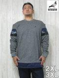 (大きいサイズ メンズ 通販 デビルーズ)STAPLE(ステイプル)「MIXED STRIPE」スウェットシャツ