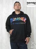 (大きいサイズ メンズ 通販 デビルーズ)THRASHER(スラッシャー)「RAINBOW LOGO」HOODY