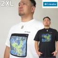 大きいサイズ メンズ Columbia(コロンビア)ザイオンリバー ドライ 半袖T シャツ 2XL