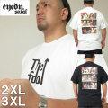 大きいサイズ メンズ EYEDY(アイディ)CHILL 3WELL バックプリント 半袖Tシャツ(当店在庫分)2XL 3XL