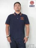 (大きいサイズ メンズ 通販 デビルーズ)FRANKLIN&MARSHALL 「NEW LOGO」半袖ポロシャツ
