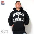 (本州四国九州送料無料)FRANKLIN&MARSHALL(フランクリンアンドマーシャル)ひび割れプリント HOODY 3XL フランクリン