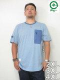 LRG(エルアールジー)「RIP&ZIP」ポケットTEE<VENICE BLUE HEATHER>