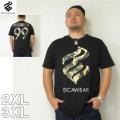 (5/31まで特別送料)ROCAWEAR(ロカウェア)LOGO IN LIVERTY-半袖Tシャツロカウェア 2XL 3XL 半袖 Tシャツ