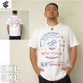 (5/31まで特別送料)ROCAWEAR(ロカウェア)LOGO IN FLAG-半袖Tシャツロカウェア 2XL 3XL 半袖 Tシャツ