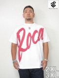 (大きいサイズメンズ通販デビルーズ)ROCAWEAR(ロカウェア)JAPAN「BIGROCA」TEE<ホワイト>