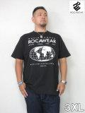 ROCAWEAR(ロカウェア)JAPAN「WORLDFAMOUS」TEE<ブラック><3XL>