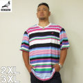 (4/6まで特別送料)STAPLE(ステイプル)MULTI STRIPE 半袖 Tシャツ 2XL 3XL