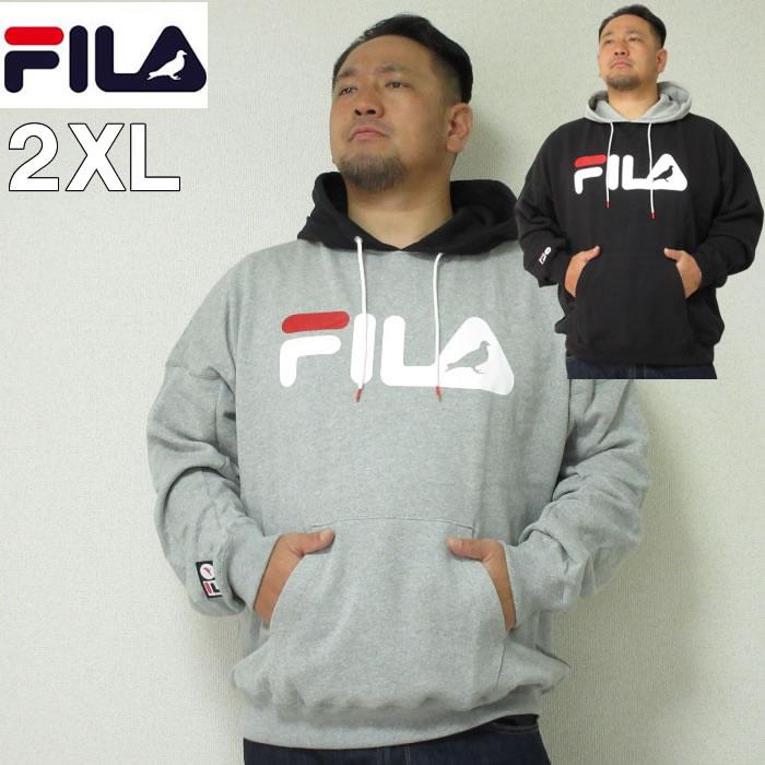 (本州四国九州送料無料)大きいサイズ メンズ STAPLE(ステイプル)FILA×STAPLE HOOD デカロゴ フィラ 2XL パーカー