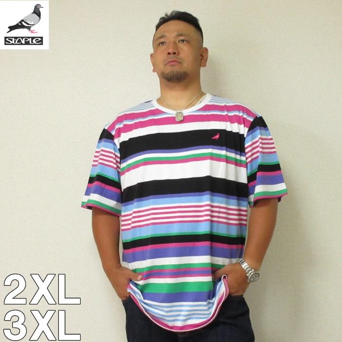 (8/31まで特別送料)STAPLE(ステイプル)MULTI STRIPE 半袖 Tシャツ 2XL 3XL