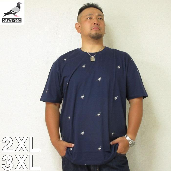 (本州四国九州送料無料)STAPLE(ステイプル)ALL OVER PIGEON 半袖 Tシャツ 2XL 3XL